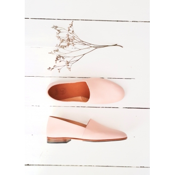 Slip on Maury, nude leather