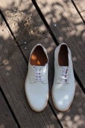 Derby shoes, white calf
