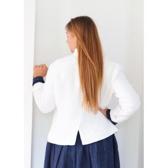 Tailor jacket, white heavy linen