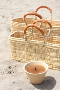 """Citronella outside candle, """"old wax"""""""