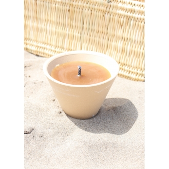"Citronella outside candle, ""old wax"""
