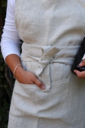 Apron, natural heavy linen
