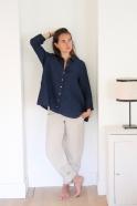 Summer trousers, natural linen