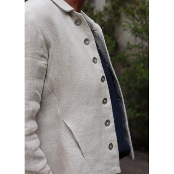 Tailor jacket, natural heavy linen