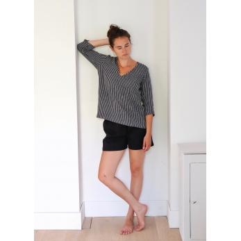 Short, jean noir