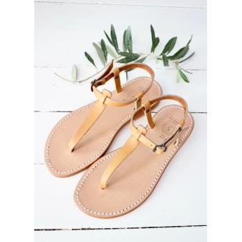 Sandales Transat, cuir naturel