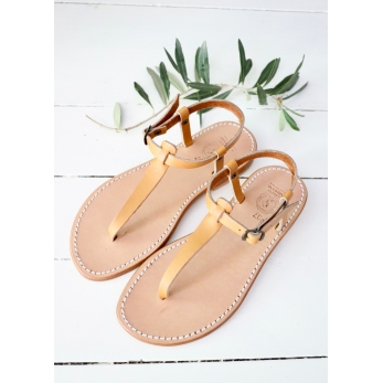Sandals Transat, brown leather