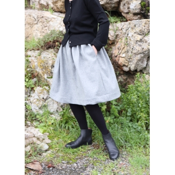 Skirt, grey wool blend