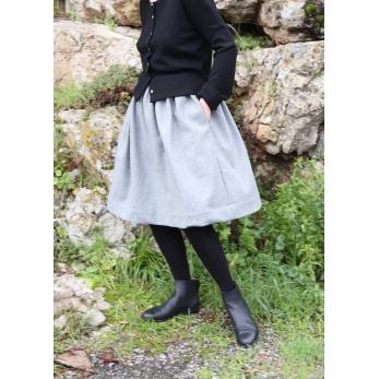 Skirt, grey wool blend