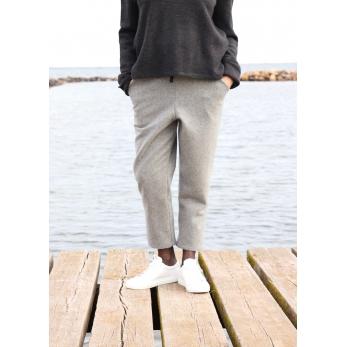Pockets trousers, grey wool blend