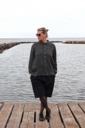 Unisex shirt, grey heavy linen