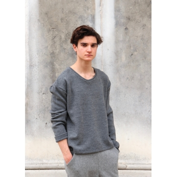 Unisex sweater, light grey heavy jersey