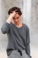 Unisex sweater, light grey heavy jersey