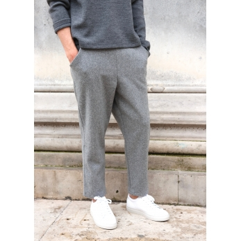 Pockets trousers, grey wool blend