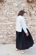Flared jacket, natural heavy linen