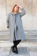 Manteau, drap de laine gris