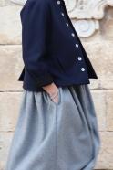 Tailor jacket, navy blue wool drap