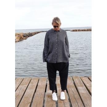 Pantalon sarouel, drap bleu marine