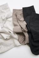Silk wool double-faced socks, dark mocha