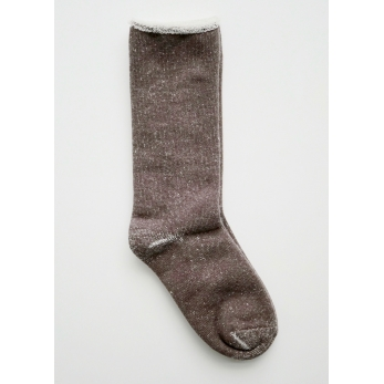 Cotton wool pile socks, dark mocha