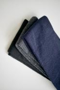 Collants en laine merinos, noirs