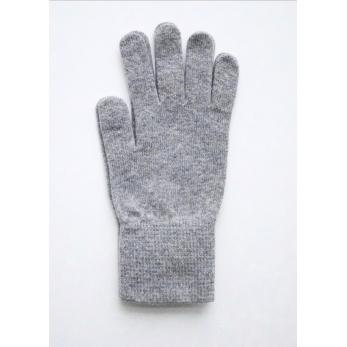 Uruguayan wool gloves, light grey