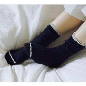 Chaussettes en soie et coton, noires