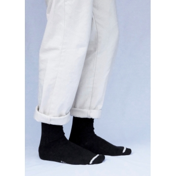 Wool ribbed socks, navy blue