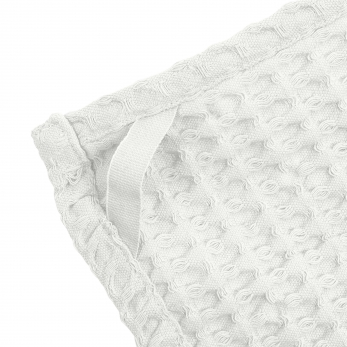 Bif waffle kitchen and wash cloth, white cotton