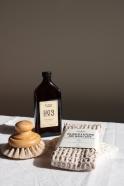 Bif waffle kitchen and wash cloth, stone cotton