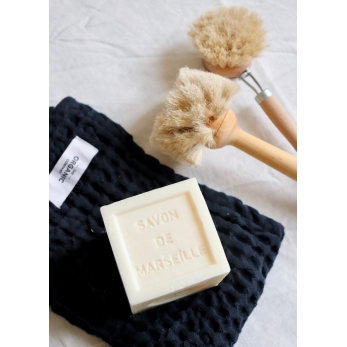 Bif waffle kitchen and wash cloth, navy blue cotton