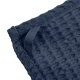 Big waffle kitchen and wash cloth, navy blue cotton