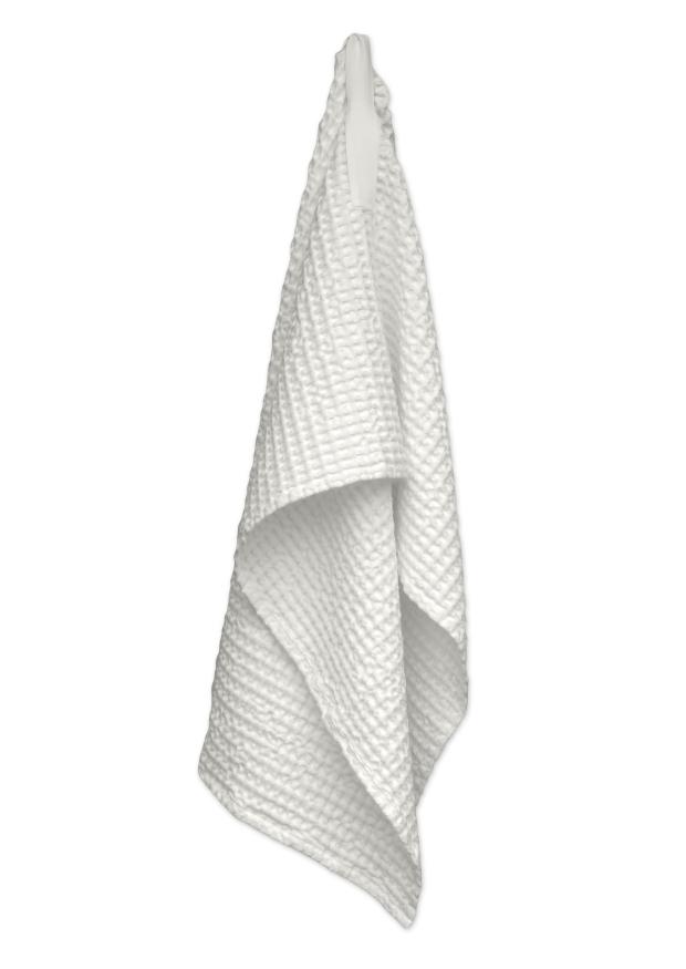 Bif waffle bath towel, white cotton