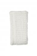 Serviette de bain en nid d'abeille, coton blanc