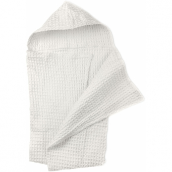 Big waffle baby towel, white cotton