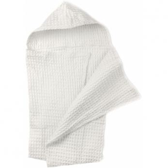 Peignoir pour bébé en nid d'abeille, coton blanc