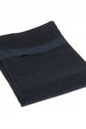 Drap de plage, coton bleu marine