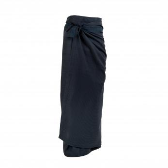 Wellness towel, navy blue cotton