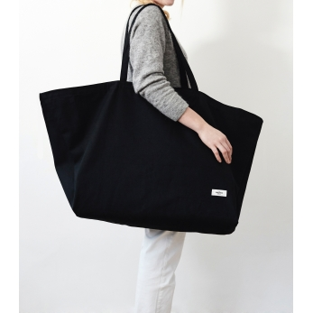 XXL bag, black cotton