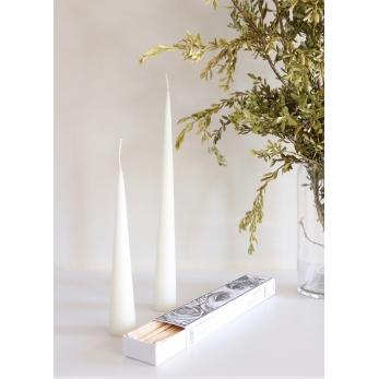 Cone candle, white