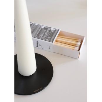 Candle plate, black matt
