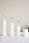 Pillar candle, white