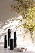 Bougie pilier noire