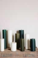 Bougie pilier vert sapin