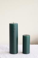 Pillar candle, dark green