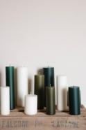 Pillar candle, green