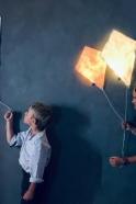 Ligthing kite in white paper