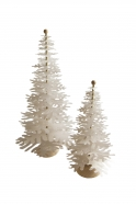 Fir tree - Paper 3D decoration kit, white and gold
