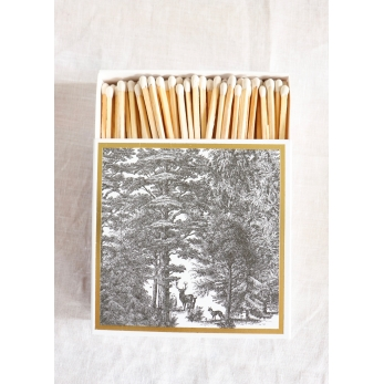 """Square matchbox """"Forest"""""""
