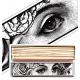 """Long matchbox """"Eyes"""""""